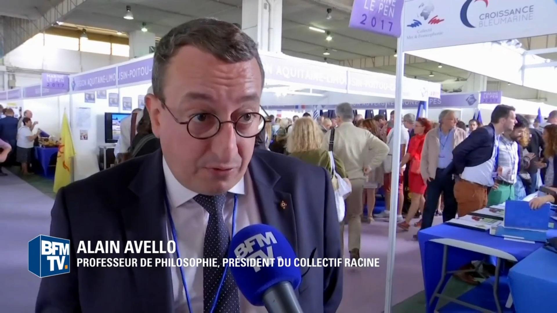 Alain Avello interviewé par BFMTV lors des Estivales de Fréjus