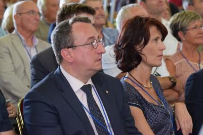Valérie Laupies et Alain Avello, lors des Estivales de Fréjus