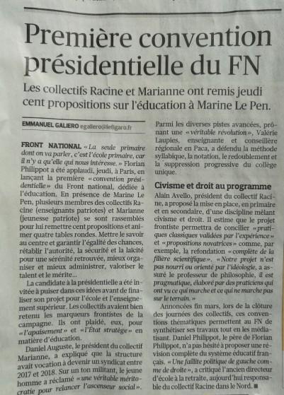 Le Figaro revient sur la 1ère Convention présidentielle de Marine Le Pen