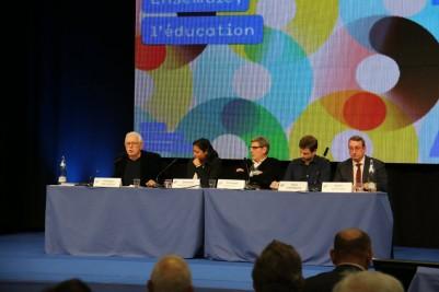 Alain Avello représente Marine Le Pen lors de la Session annuelle consacré à l'éducation des Semaines Sociales de France