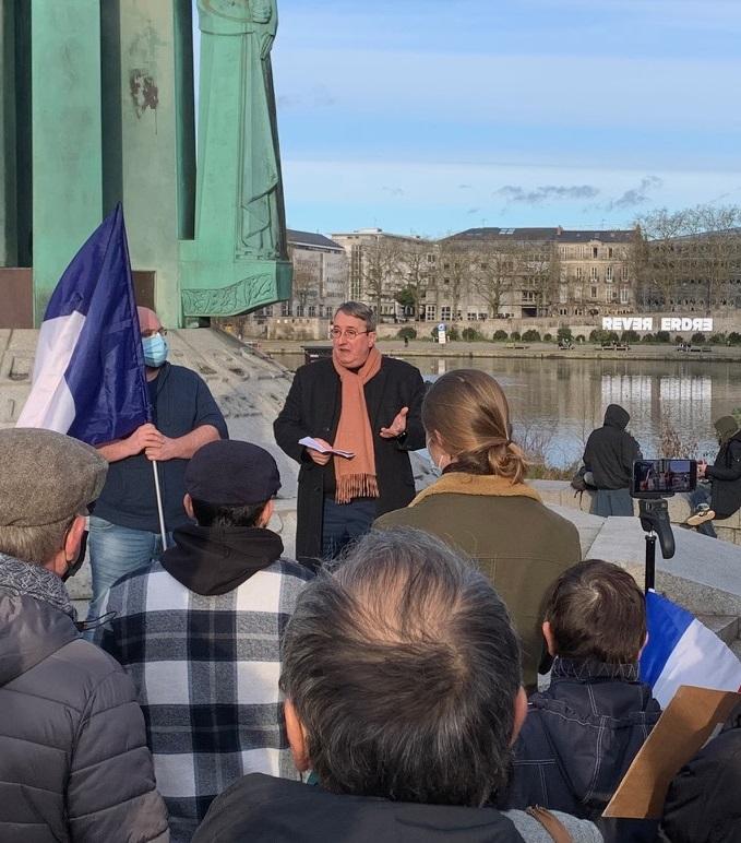 Communiqué et retour sur le rassemblement anti-Coronafolie (Nantes, 23 janvier 2021)